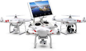 DJI Phantom 2 Drones with Drone Video System gear